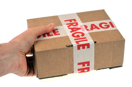 Delivery of a fragile parcel 写真素材