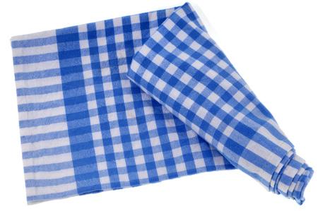 Checked napkin Stock Photo
