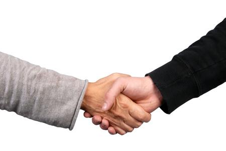 The handshake Stockfoto