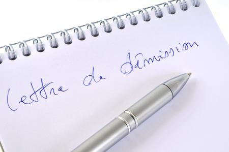 Draft letter of resignation