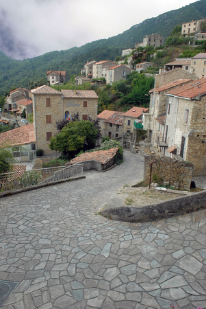 Village of Tollo in Corsica Redakční