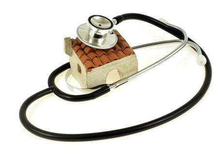 Stethoscope on a house