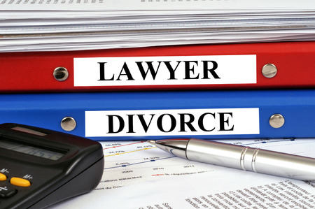 Lawyer and divorce file