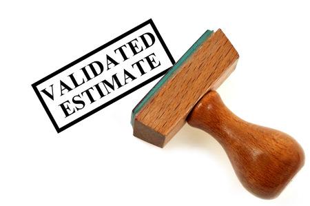 Inking stamp validated estimate