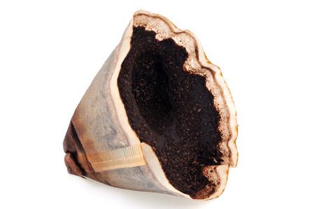 Filtre à café usagé Banque d'images