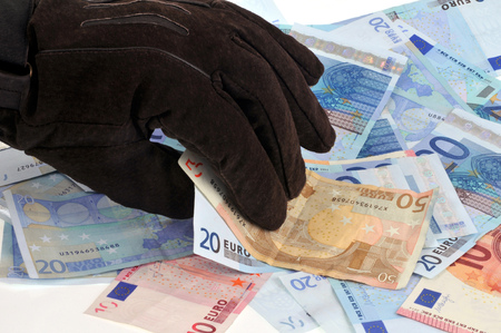 Money theft Stock Photo - 110449019