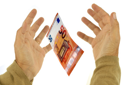 Catch a ticket of fifty euros Stock Photo