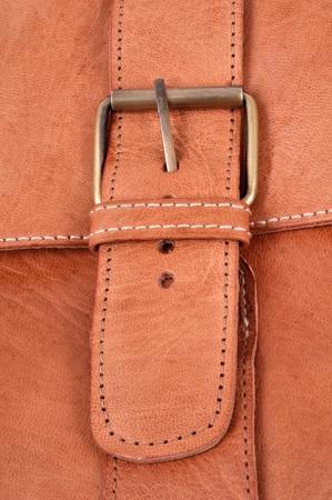 Leather bag buckle