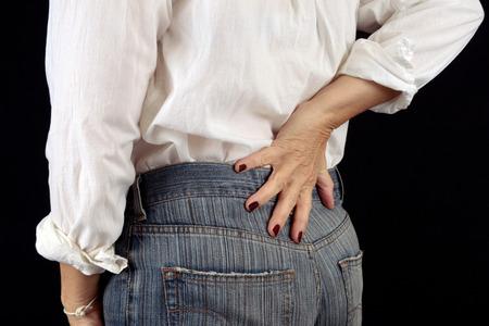 Back ache Stock Photo