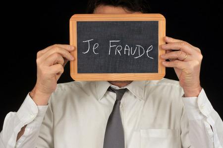 I fraud Stockfoto