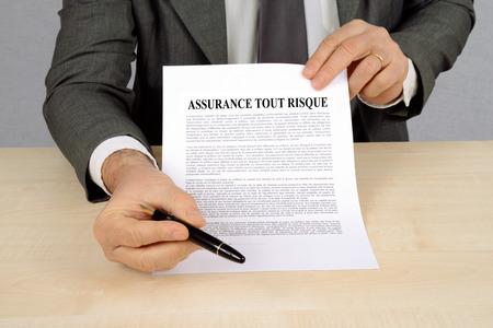 Comprehensive insurance Stock fotó