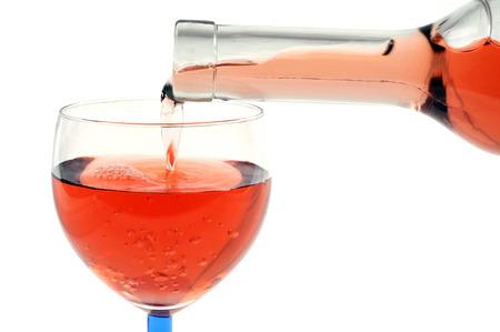 Pour a glass of ros Zdjęcie Seryjne