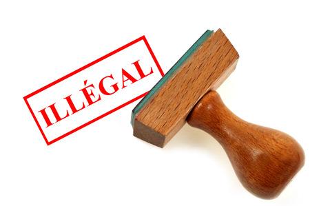 Illegal ink stamp
