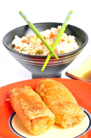 Nems and Cantonese rice