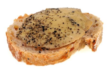 Tartine of foie gras Banque d'images
