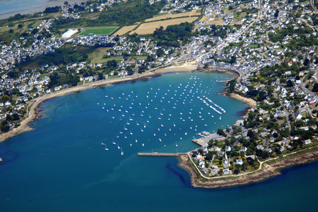 Aerial view of Port Navalo in Brittany