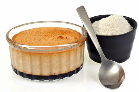 Coconut Flan Stock Photo