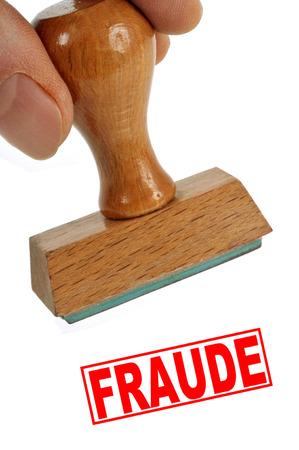 Fraud stamp Stockfoto