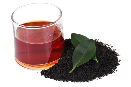 Glass of black tea