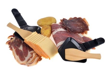 Ingredients for a raclette Banco de Imagens