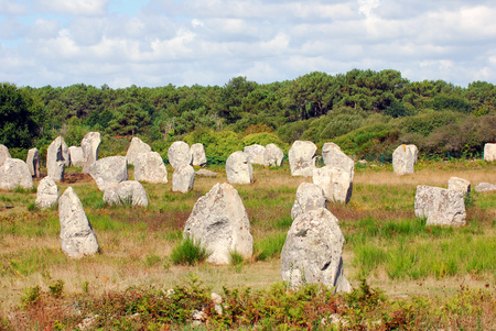 The alignments of Carnac Stock Photo
