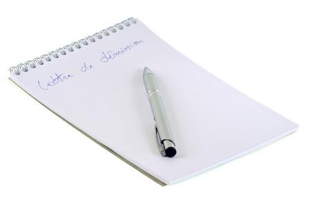 Draft resignation letter