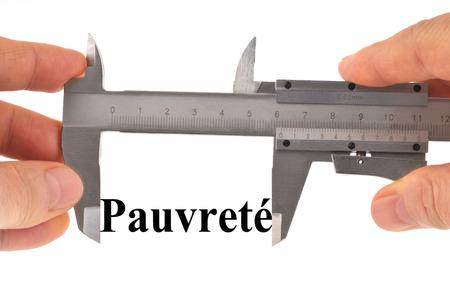 Measuring poverty with a vernier caliper