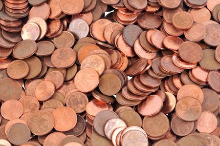 The cents of euros Stok Fotoğraf