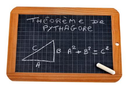 The Pythagorean theorem Stock Photo