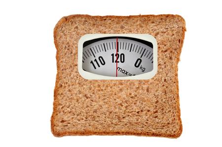Scale bread concept Imagens