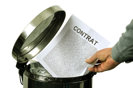 Throw a contract in the trash