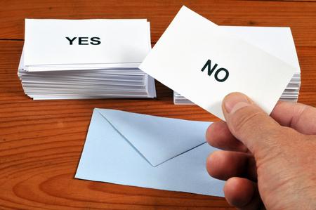 Yes or no Banco de Imagens