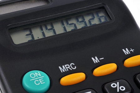 Pi number on a calculator