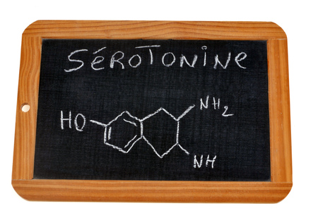 Chemical formula of serotonin