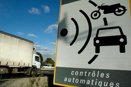 Radar control sign Banque d'images - 114829028