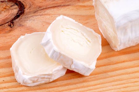 Goat cheese cut
