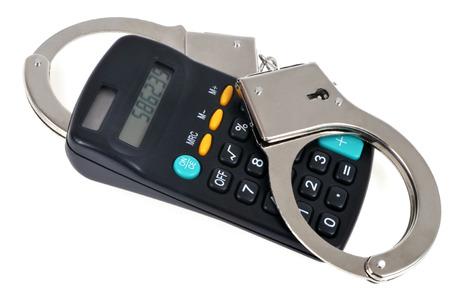 Handcuffs and calculator