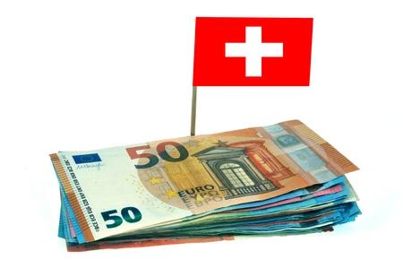 Concept of tax evasion in Switzerland Stock Photo