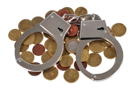 Handcuffs on coins