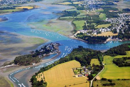 Vue aérienne de Conleau dans le Morbihan