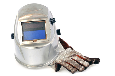 Mask and welding gloves