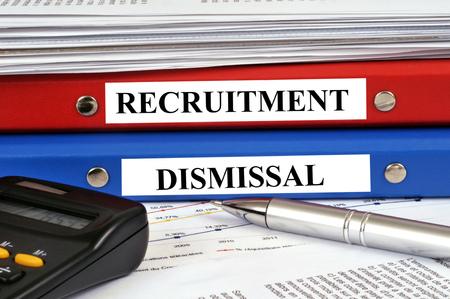 Recruitment and dismissal folders