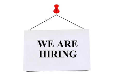 We are hiring 스톡 콘텐츠