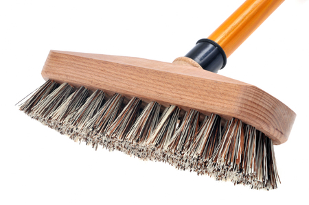 Brush broom in close up Foto de archivo
