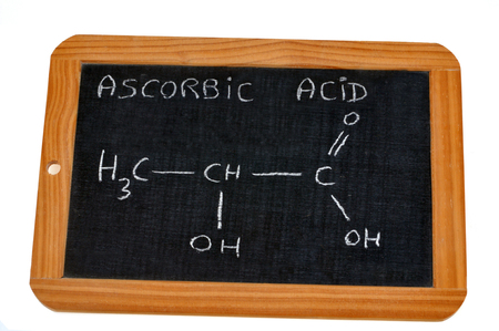 Chemical formula of ascorbic acid