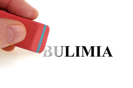 Concept of ending bulimia by erasing the word bulimia