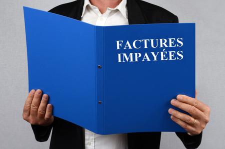 File unpaid invoices Stock Photo