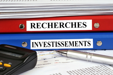 Research and investment files 版權商用圖片