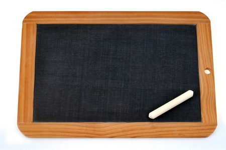Blank slate and chalk