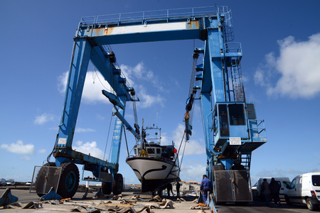Gantry crane on a port Zdjęcie Seryjne